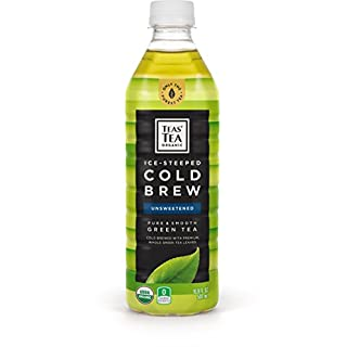 Teas' Tea Organic Cold Brew Green Tea, Unsweetened (Pack of 12)