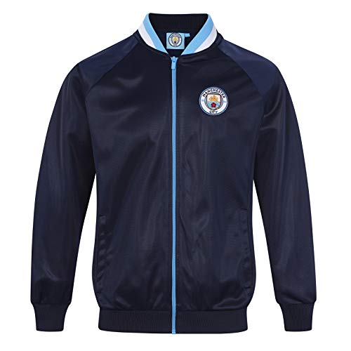 (Manchester City FC Official Soccer Gift Mens Retro Track Top Jacket Large)