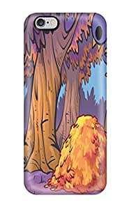 Unique Design Iphone 6 Plus Durable Tpu Case Cover Art Nedroid Cute Bears Birds Trees Forest Woods Leaves