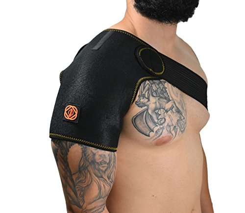 Shoulder Brace by Jupiter Orbit- Shoulder Support Brace for Compression, Shoulder Brace Support for Men and Women, Rotator Cuff Support for Injury Prevention, Sprain and Soreness by Jupiter Orbit