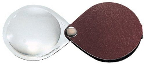 - Eschenbach 50mm 3.5x Folding Round Magnifier with Leather Case