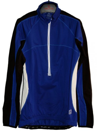 Men's TopCool Reflective Zipper Long Sleeved Spring Fall Winter Biking Cycling Jersey (Blue, X-Large)