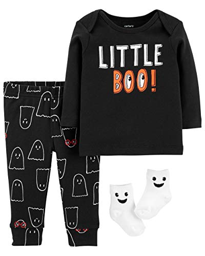 Carter's Baby Boy's 3-Piece Little Boo Halloween Set (6 Months) ()