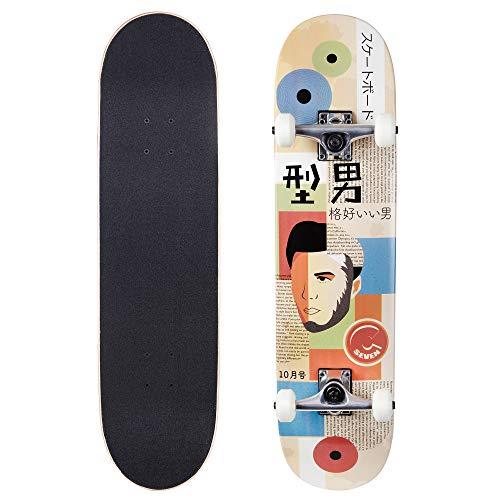 Cal 7 Complete Standard Skateboard 7.5-8-Inch Deck