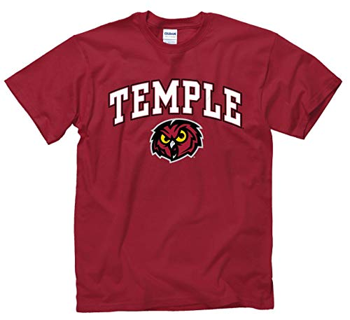 Campus Colors Temple Owls Arch & Logo Gameday T-Shirt - Maroon, Large