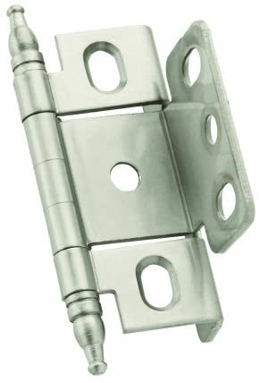Amerock PK3175TBAE Full Inset 19mm - Antique Brass Ball Tip Hinge with 3//4in Door Thick Full Wrap