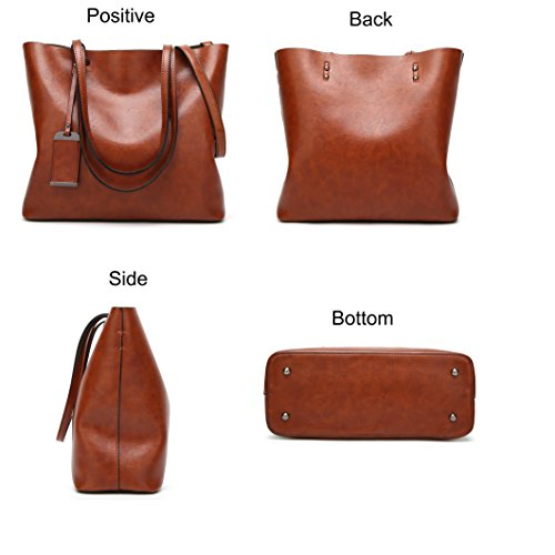 Tote Brown Handle Satchel Handbags Women Shoulder Purse Lady Hobo Top Obosoyo Bag Messenger wqEpnCC6x