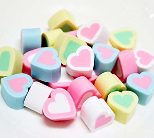 Candy Artificial - Skyseen 20PCS Heart Shape Artificial Marshmallow Fake Cotton Candy Model Decoration Toys Prop DIY Accessories,Mini