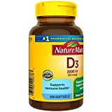 Vitamin D3, 250 Softgels, Vitamin D 2000 IU