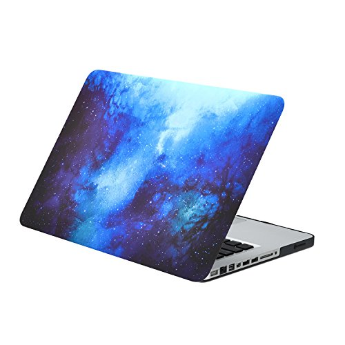 TOP CASE - Blue Galaxy Graphic Rubberized Hard Case Compatible with Apple Old Generation MacBook Pro 13 Model A1278