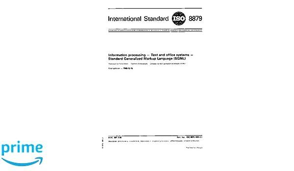 Amazon.com: ISO 8879:1986, Inf...