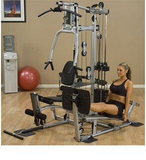 Powerline Home Gym with Leg Press, Grey/Black image