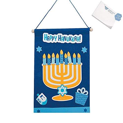 Hanukkah Banner Craft Kit - Make Your Own Hannukah Banner (Pack of 2)]()