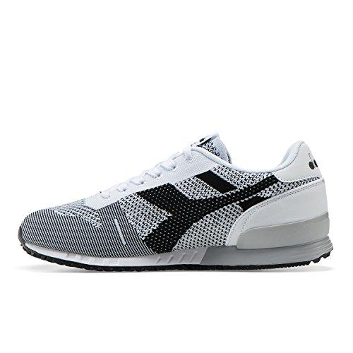 NOIR BLANC Adulte Mixte Sneaker Diadora Weave C0351 Titan Basses wAqnzn8g