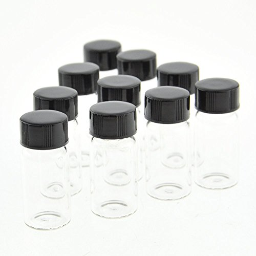 Liquid Sample Collection Glass Bottles Vials Screwcap Capacity 5ml ,1/6 Oz Pack of 10