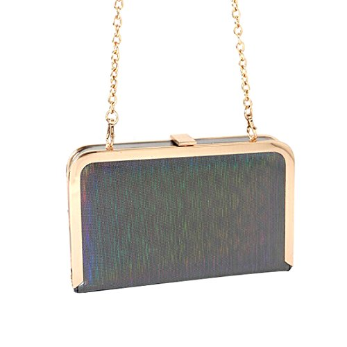 for Bag Clutch Gray Handbag Shoulder Women Purse Crossbody Evening 5SSqY