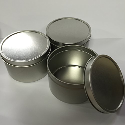 Candlewic Large Candle Tin (8 Oz.), 12 Pieces with Lids by Candlewic