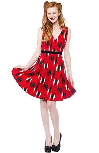 Sourpuss-Retro-Diamonds-Dress-Red
