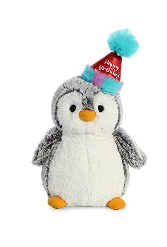 Aurora World Pompom Penguin Plush Toy Animal, Pompom Happy Birthday, 9