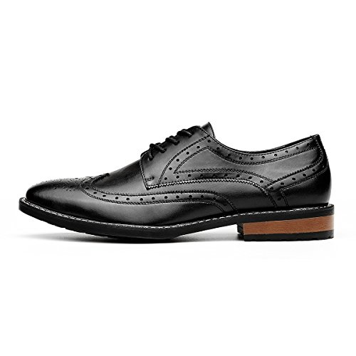 Men's Wingtip Classic Italy Lace-up Black Dress Shoes Black 11 D (M US