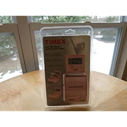 Timex Travel Alarm Clock Radio (Pink) Flip Top AM/FM Radio, Wake to Radio, Buzzer with Snooze, Lighter Clock Display, A travel alarm clock radio small enough to fit in your pocket
