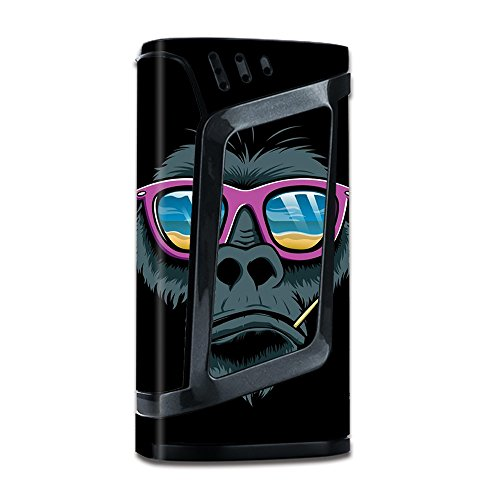 Skin Decal Vinyl Wrap for Smok Alien 220W TC Vape Mod with Grip-Guard Technology stickers skins cover / Chimp toothpick (220 Sunglasses)