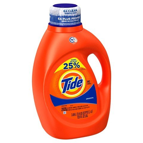 Tide Original He Turbo Clean Liquid Laundry Detergent, 80 Loads, 125 Fluid Ounce