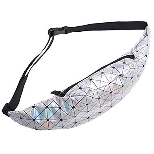 JITALFASH 2019 New Bling Leather Waist Pack Waist Bag Women Fanny Pack Belt Waist Pack for Men Money Belt YB002-5 OneSize