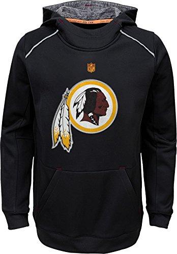 (Outerstuff NFL Youth Performance Team Color Pinnacle Primary Logo Pullover Sweatshirt Hoodie (Medium 10/12, Washington Redskins))