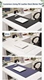 PU Leather Office Desk Blotter Pad Mat for