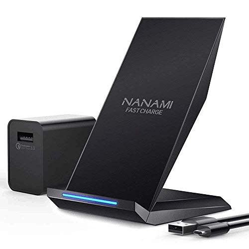 Fast Wireless Charger, NANAMI Qi Certified Wireless Charging