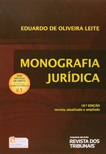 Monografia Jurídica - 10ª Ed. 2014