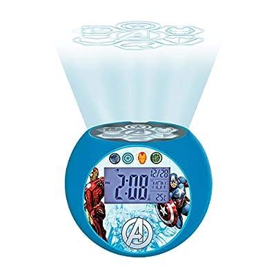 Marvel The Avengers Iron Man Radio Projector Clock, Sound Effects, Battery-Powered, Blue/Black, RL975AV: Electronics