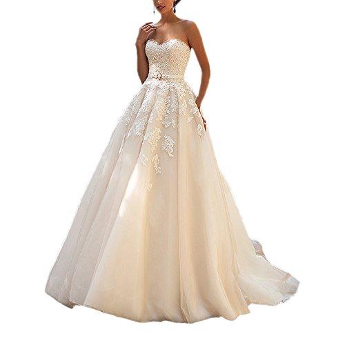 Damen ABaoWedding weiß Weiß weiß Kleid qXBBxnH