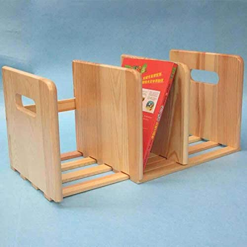 Lanrui Creative Adjustable Wooden Telescopic Bookend Reading Stand Recipe Book Holder Stationery Supplies