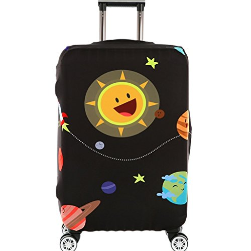 Fvstar Washable Luggage Cover Spandex Travel Suitcase Protective Cover (L, Colorful 12)