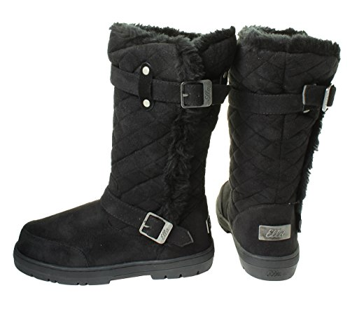 Brown Buddy The Snow Fur Women's Sizes Lined Tan High Comfortable Hard Calf Knee Dish Beige Ankle Quilted Chestnut Winter Sole Nero Ladies Boots Black 8rEnz8q