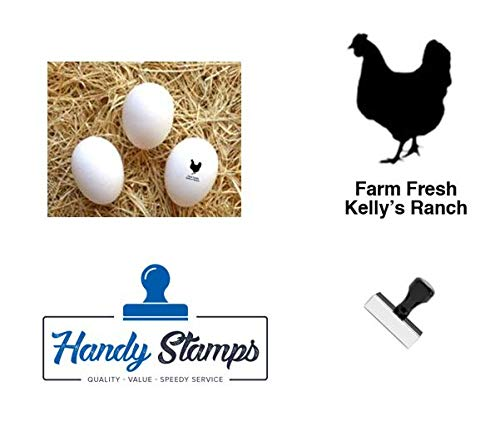 Personalized Rubber Egg Stamp - 1/2