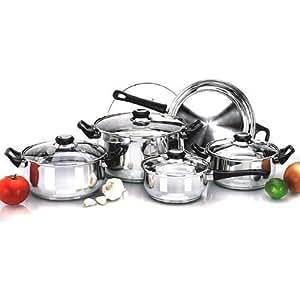 Prima bater a de cocina acero inoxidable 12 piezas for Amazon bateria cocina
