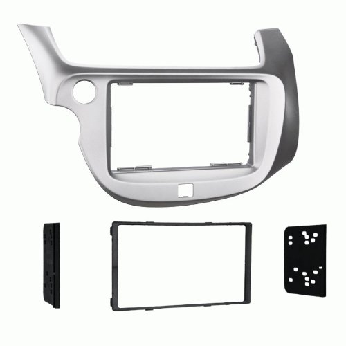 Metra 2009 - 2013 Honda Fit Dash Kit Double Din for Radio Install Silver