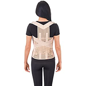 "UFEELGOOD Dorso-lumbar Back Brace & Posture Corrector - Medium, Waist/Belly 31½"" - 35½"" Beige"