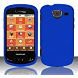 Importer520 Rubberized Snap-On Hard Skin Protector Case Cover for For (Verizon) Samsung Brightside U380 - Blue