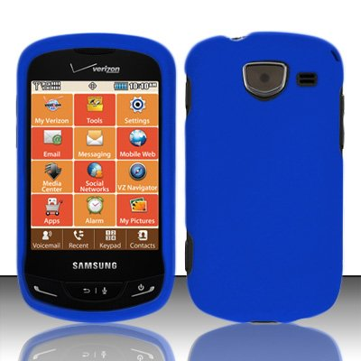 Importer520 Rubberized Snap-On Hard Skin Protector Case Cover for For (Verizon) Samsung Brightside U380 - Blue - Samsung Brightside Case Blue