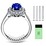 Ring Size Adjuster for Loose Rings - Jewelry Guard, Spacer, Sizer, Fitter - 12 Pack, 4 Sizes - Spiral Silicone Tightener Set with Polishing Cloth [Upgraded]