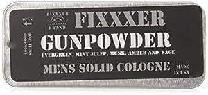Fixxxer Natural Men's Solid Cologne GUNPOWDER (18g) metal tin, Brand