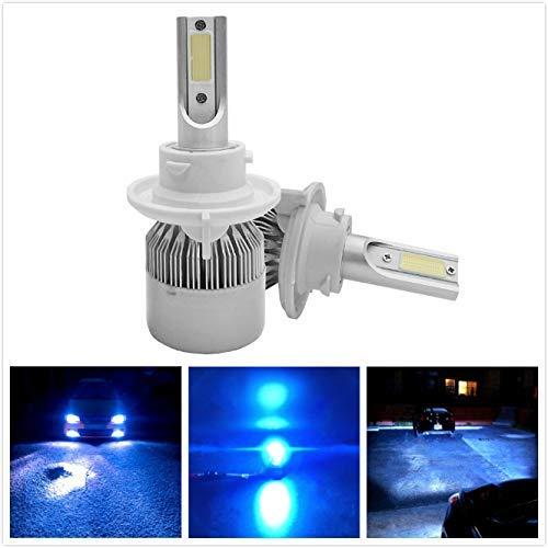 Torofibi Ice Blue H13 9008 LED Headlight Bulbs 72W 7600LM 6000K Xenon Blue Internal Driver Dual Beam Headlight Hi/Lo Beam All-in-One (Pack of 2)