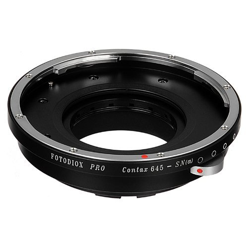 Fotodiox Pro Lens Mount Adapter - Contax 645 (C645) Mount Lenses to Sony Alpha A-Mount (and Minolta AF) Mount SLR Camera Body, Black (C645-SnyA-Pro)