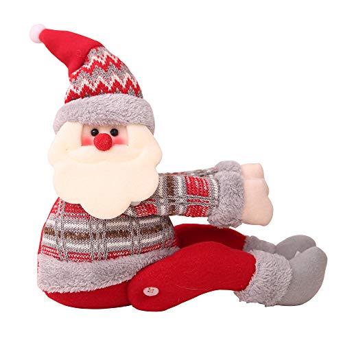 Christmas Curtain Buckle, Cute Cartoon Doll Curtain Buckle Window Decoration Home Decors Christmas Decorations (A)