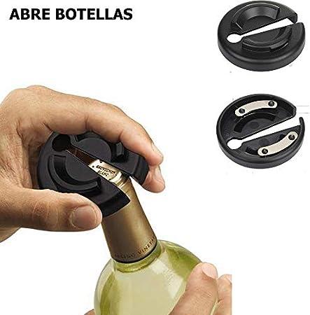 NATURAL LOGISTICS Sacacorchos eléctrico con vertedor Vino-Abridor Profesional. Abre tu Vino sin Esfuerzo. Utensilio Cocina Moderna. Kottao (Azul)