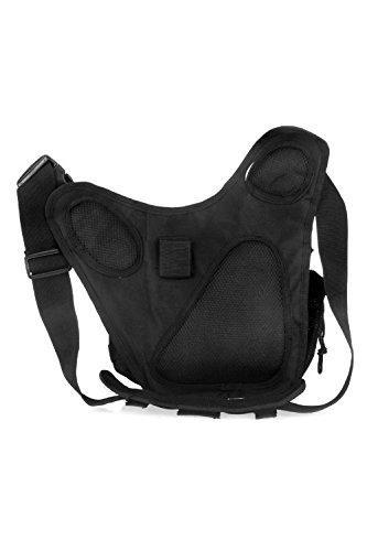 TOOGOO(R) Taktische Tasche Molle Tactical Bag Schulterriemen Tasche Reisetasche Rucksack Kamera Tasche Militaer Tasche (Schwarz) jLOY5